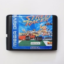 Street Racer carte de jeu MD 16 bits pour Sega Mega Drive pour Genesis