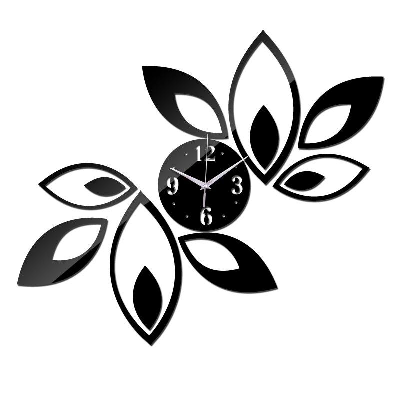2019 nueva venta caliente reloj de Casa decoración sala de estar cuarzo circular 3d espejo Reloj de pared diseño moderno diy