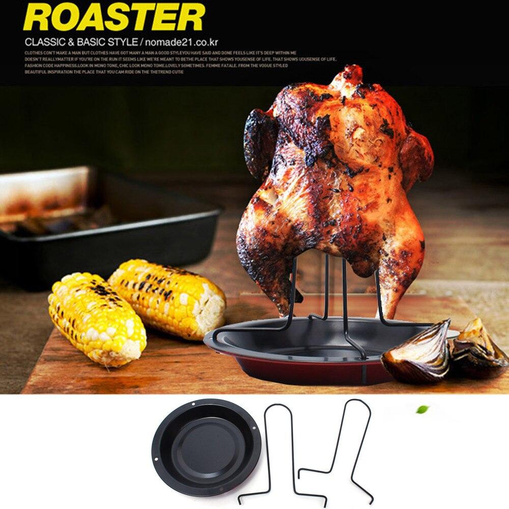 Soporte para pollo y pato, soporte para parrilla, soporte para asar barbacoa, costilla antiadherente, carbón St, utensilios de cocina, utensilios y accesorios, precio más bajo