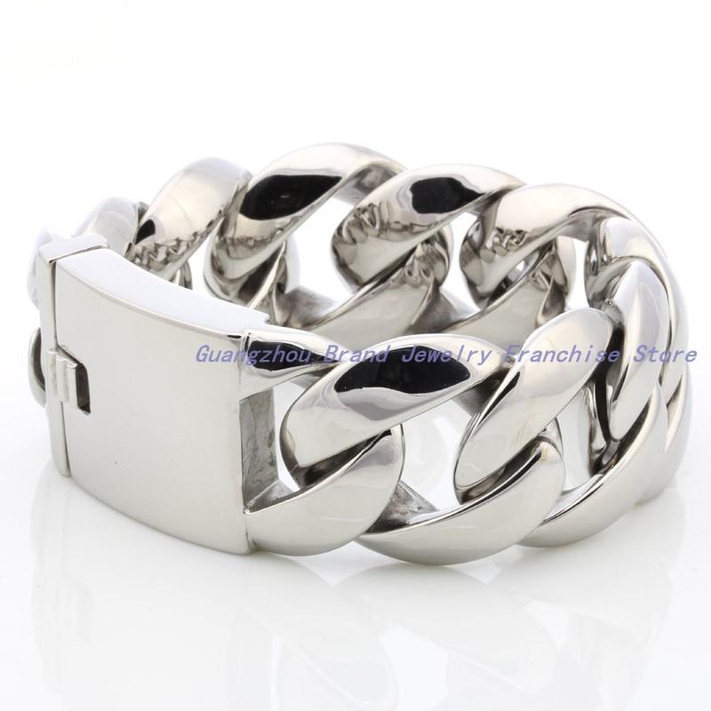 Alta qualidade moda esportes manguito jóias 316l aço inoxidável prata cor corrente pulseiras pulseira masculina, tecnologia de primeira classe