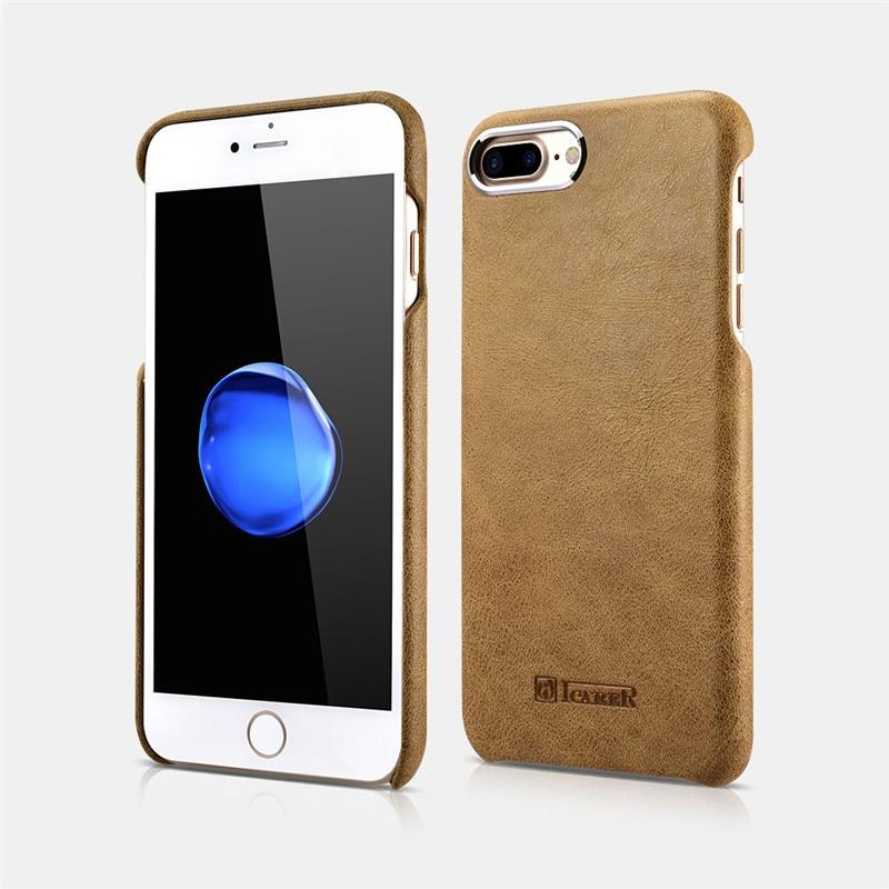 "ICARER, carcasa trasera delgada para iPhone 8, funda protectora de cuero genuino para iPhone 7 4,7 "", serie Metal Warrior Shenzhou"