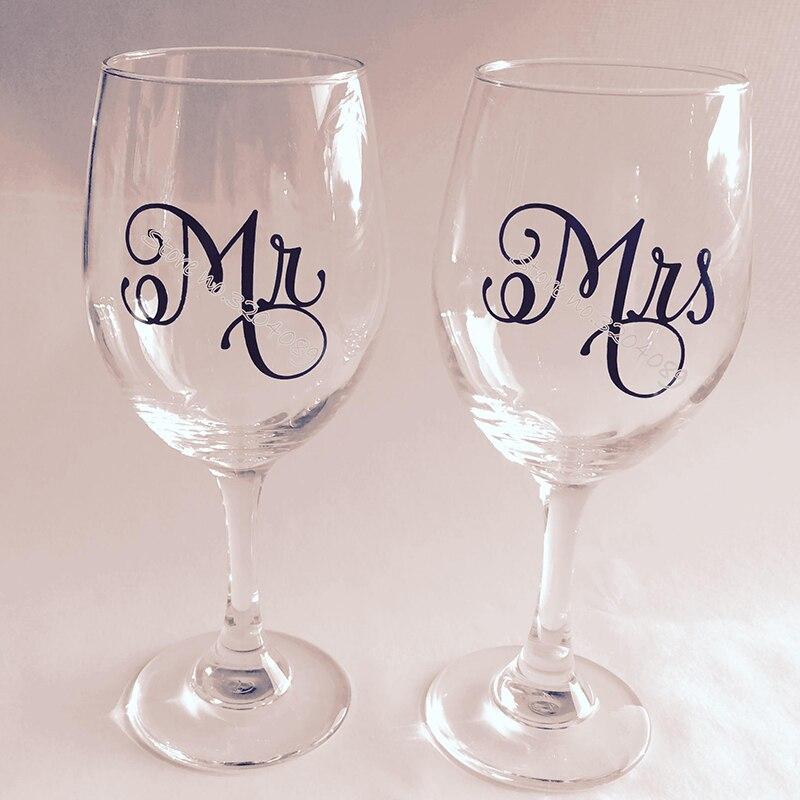 9 шт. Mr/9 шт. Mrs/Набор стикеров для Винных Бокалов, новый подарок для влюбленных пар, стеклянная наклейка для шампанского, украшение для свадебной вечеринки EB016