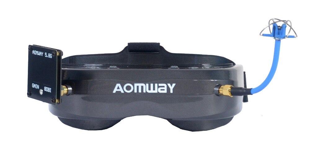¡Novedad! gafas de comandante Aomway V2 3D 5,8G 64Ch 1080P 800*600 SVGA vídeo FPV auriculares compatibles con HDMI DVR FOV 45 para modelo RC