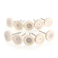 10pcs rotary wool felt polishing buffing wheel pad mini drill grinder for wood metal buffing pad polishion tools