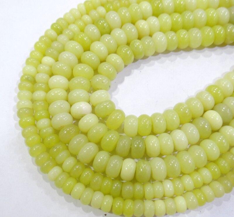 Atacado tom de amarelo Limão Natural Rondelle Grânulos 4*6mm 5*8 milímetros Spacer Contas Para Fazer Jóias pulseira Acessórios