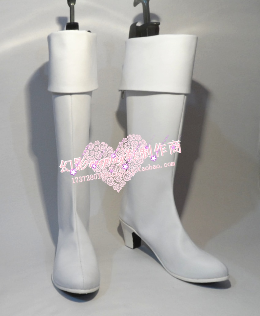 Soul Silver Imai Nobume Cosplay Branco Sapatos Botas H016