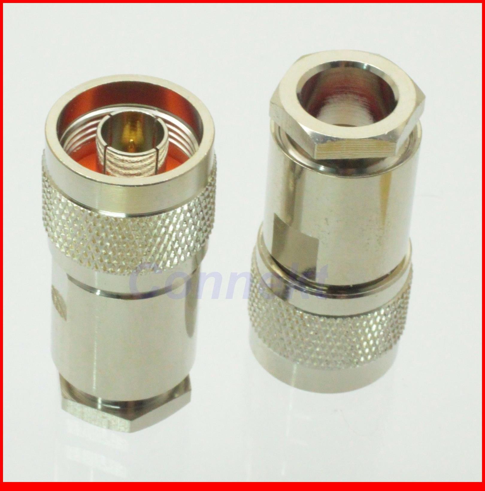 5 unids/lote N macho pinza RG11 RG12 RG144 RG216 conector de RF 75ohm