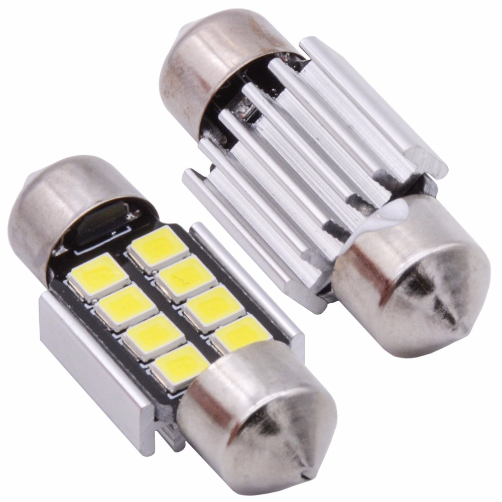2шт 1,25 31 мм DE3175 DE3021 DE3022 6428 7065 светодиодный гирлянда для салона автомобиля 5630 Chipsets алюминиевый CanBus безошибочный Автомобильный светодиодный