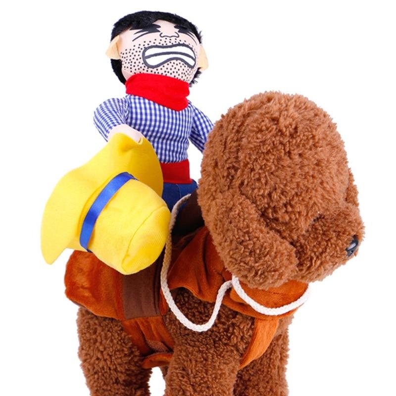 Ropa para perros, disfraz de Halloween de Cowboy, ropa novedosa para perros, atuendo de montar a caballo, disfraces de mascotas divertidas, ropa de fiesta