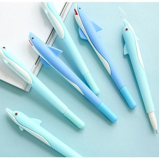 ¡Venta al por mayor! Bolígrafo kawaii de 48 Uds., bolígrafos para la escuela de gel de delfines a la moda, suministros de oficina, bolígrafo lindo para niños, buen regalo, papelería a granel