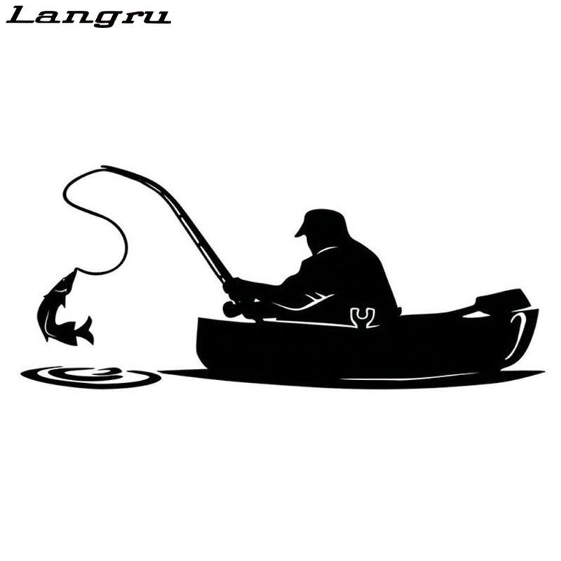 Langru Fashion Fisherman Fishing On Board Car Sticker Covering The Body Of Interesting Vinyl Decals Jdm