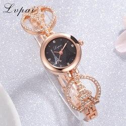 Lvpai relógio de pulso, marca de topo, diamante, torre, quartzo, para moças, feminino, vestimenta, moda feminina, relógio de luxo