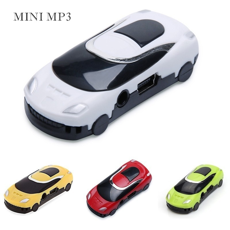 Regalos para Niños MP3 reproductor de música Mini estilo de coche MP3 luz LED de dibujos animados reproductor de MP3 con ranura para tarjeta TF MP3 reproductor de coche USB TW-540