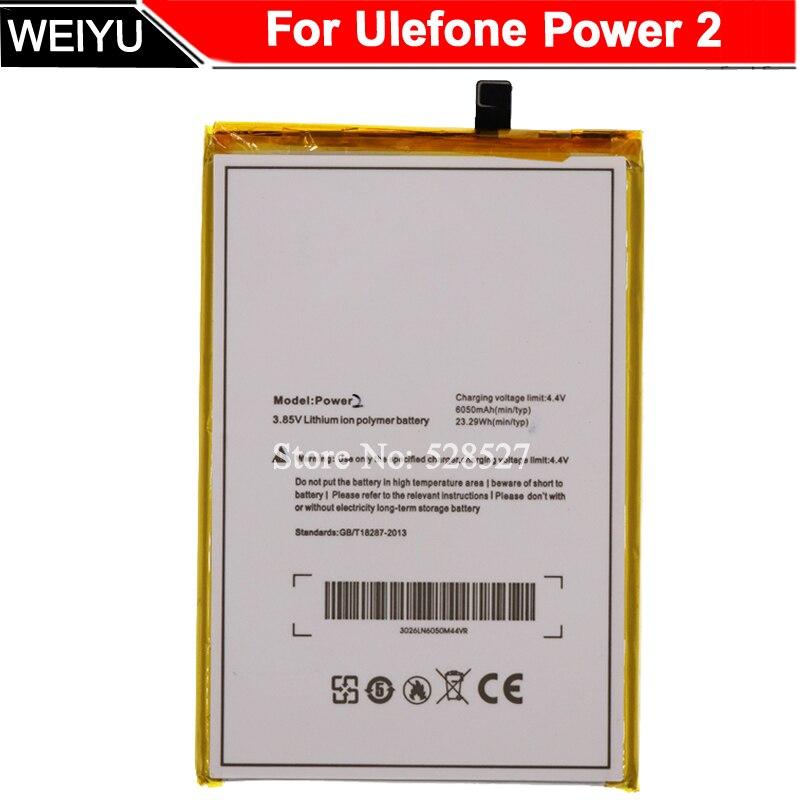 Batería Para Ulefone Power 2 Bateria para Ulefone Power II teléfono 5,5 pulgadas MTK6750T Octa Core Android 7,0 6050mAh