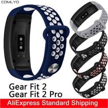 Für Samsung Getriebe Fit 2/Getriebe fit2 pro straps smart armband Silikon atmen Sport uhr R360/R365 bands COMLYO Fit 5,5-8,1 zoll