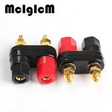 4 pièces/lot 4MM connecteur de prise banane plaque dor poste de liaison dans les connecteurs de fil Terminal haut-parleur