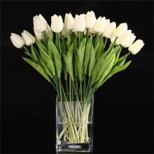 TFBC-décor fleur tulipe Latex   20 pièces, pour décor de mariage, KC451-blanc