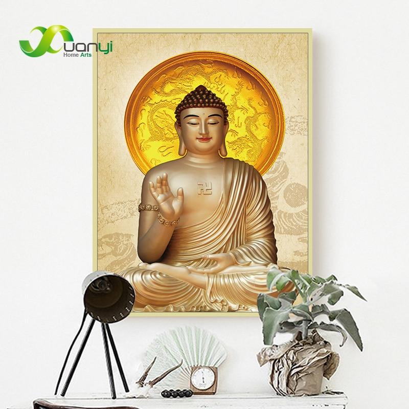 Póster de lienzo con diseño de Buda, pintura de pared, carteles Zen e impresión Budda Buda, lienzo, Pintura Artística, decoración del hogar sin marco