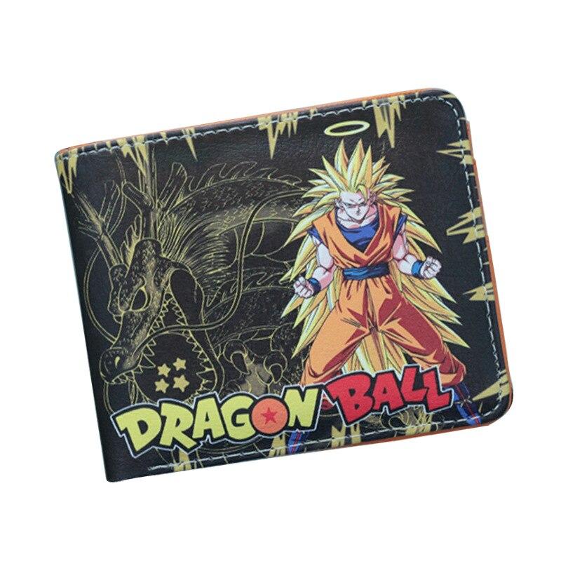 ¡Novedad! Billeteras de alta calidad de dibujos animados de anime Dragonball, billeteras cortas de PU plegables, carteras para tarjetas de crédito, Billeteras