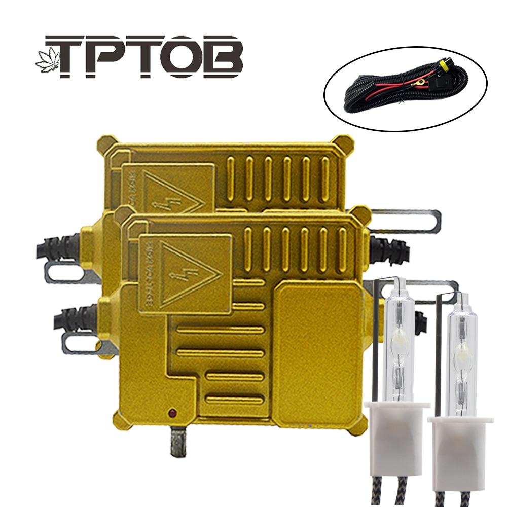 TPTOB 100W Ballast kit HID Xenon Light bulb 12V H1 H3 H7 H11 9005 9006 6000k Auto Xeno Headlight Lamp With adjustable Button