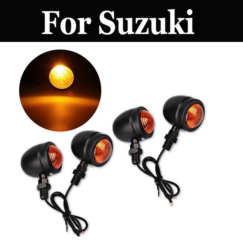 4pcs/Set Chrome Front Rear Turn Signal Light Motorcycle For Suzuki Intruder C800 M1500 M800 Ls650 Gt250 250x7 380 500b 550