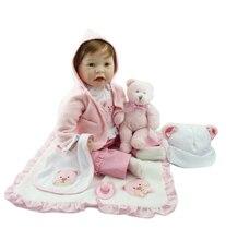 55 см хит продаж, дешевые куклы Виктории, реалистичные куклы Boneca Bebe для новорожденных, детские игрушки, мягкие силиконовые куклы для новорожд...