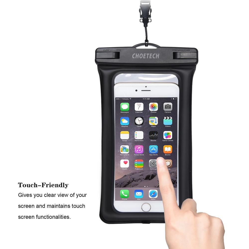 Choetech nadmuchiwane worki wodoodporne etui telefon komórkowy 30 m podwodne pralnia case pokrywa dla iphone 5 5s 6 6s plus/samsung/lg/xiaomi 5
