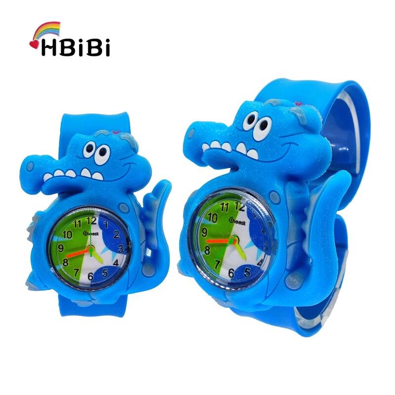 Новые Мультяшные часы с крокодилами детские модные спортивные для мальчиков и