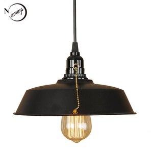 Industrial loft iron pendant light LED E27 retro creative hanging lamp for living room bedroom aisle lobby restaurant hotel shop