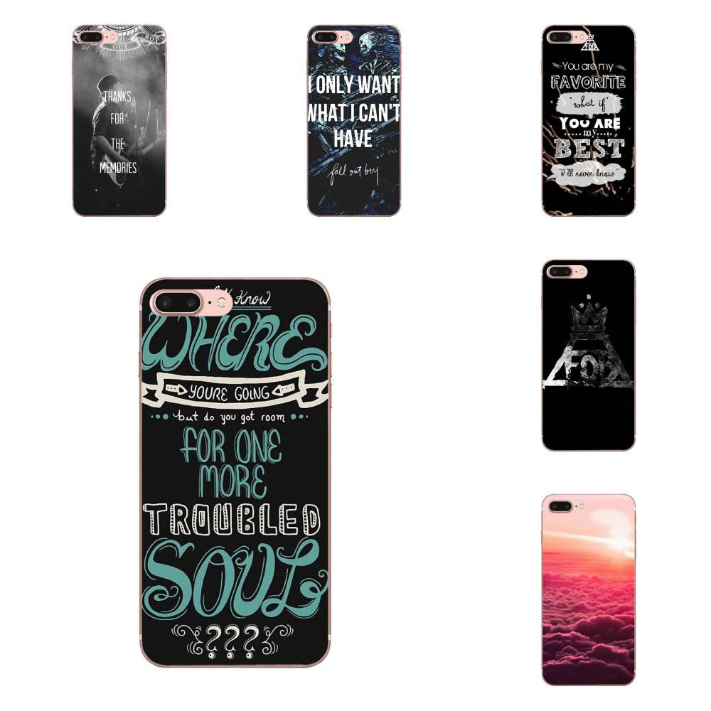 Hardcore Musik Fall Out Boy Fob Schwarz Für Apple iPhone 4 4S 5 5C 5S SE 6 6S 7 8 Plus X XS Max XR Weiche Haut Paintin