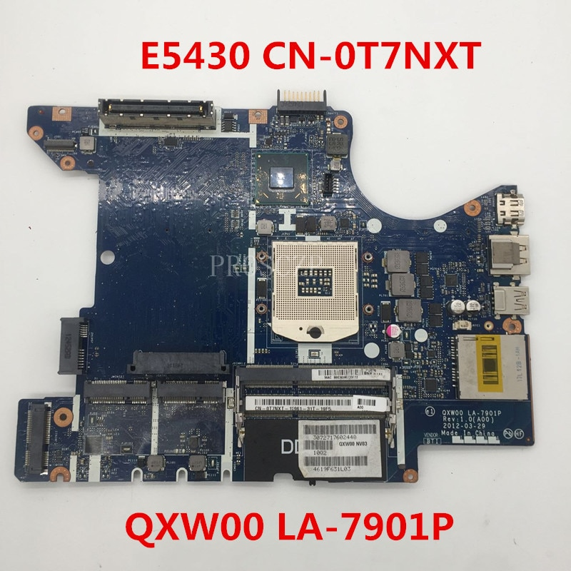 Freies verschiffen Für E5430 CN-0T7NXT 0T7NXT T7NXT Laptop Motherboard QXW00 LA-7901P 100% voll Getestet