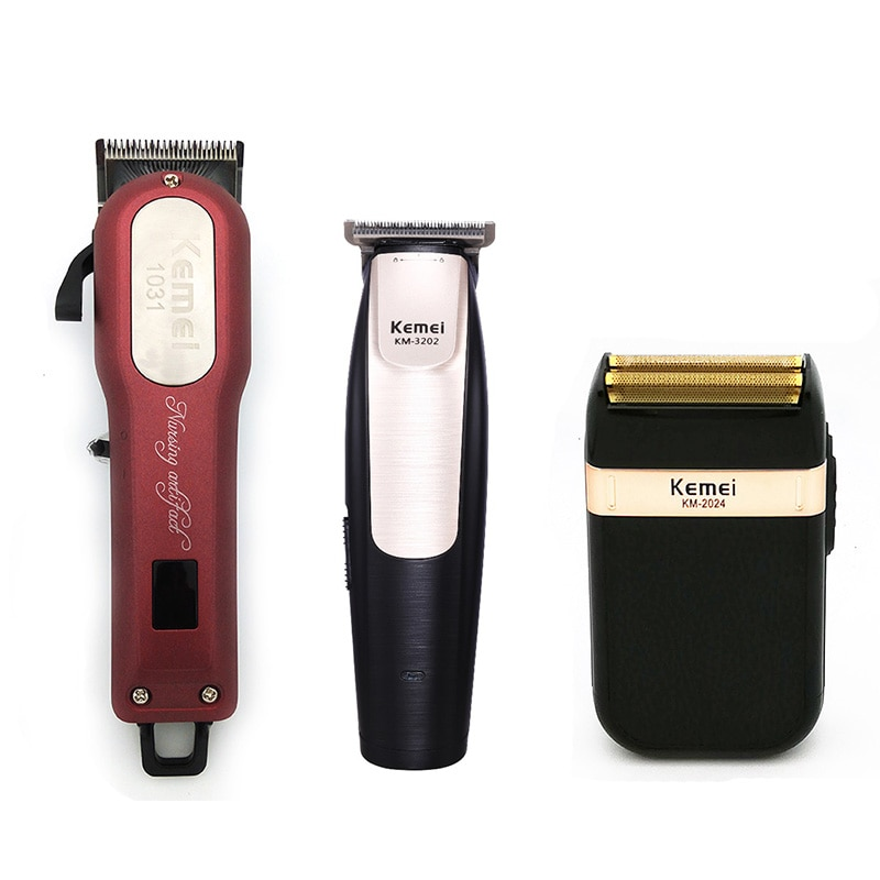 Kemei المهنية الشعر المتقلب قوية الكهربائية مقص الشعر ماكينة حلاقة الشعر ماكينة حلاقة الشعر قطع اللحية الحلاقة الكهربائية