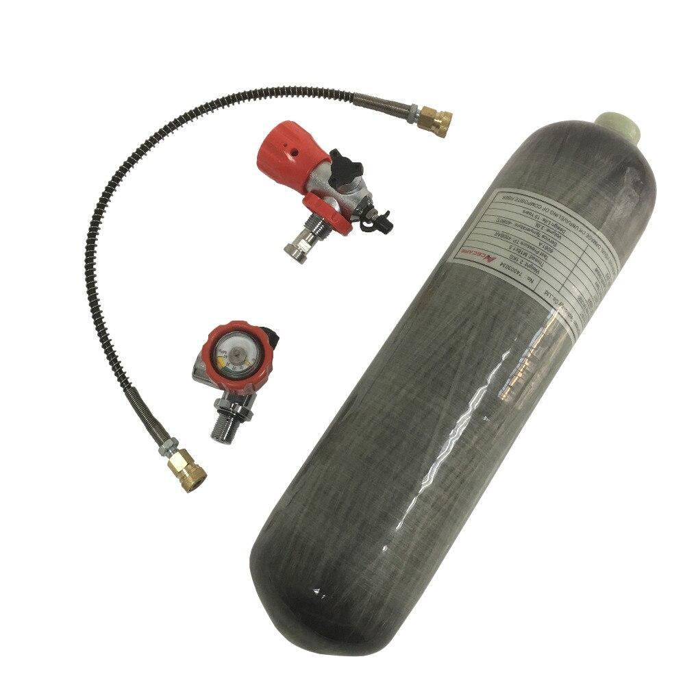 AC103101 Acecare 3L CE tanque de aire comprimido cilindro Hpa 4500Psi Paintball Co2 Airforce Cóndor tanque de buceo Pcp Rifle de aire -M