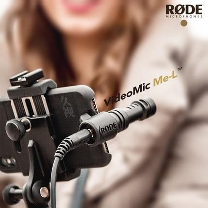 Profesional montó Videomic ME-L micrófono para conector jack para iPhone X xr 7plus 7 8 11 pro Smartphone micrófono