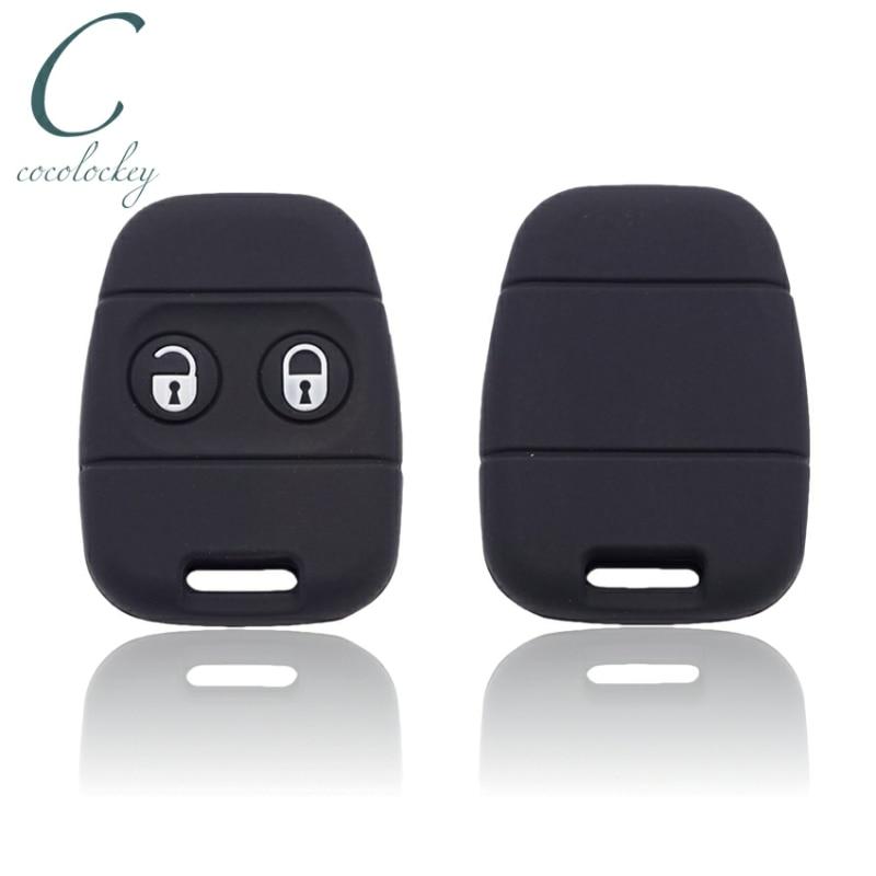 Cocolockey резиновый силиконовый чехол для ключей, подходит для Rover MG Land Rover Defender Freelander, 2 кнопки, пульт дистанционного управления, чехол для ключей