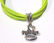 Pulsera de abalorios de béisbol Mixed Vintage Silver I love, pulsera de cadena de cera para tobillo, pulsera, joyería de moda, accesorios para mujeres, superventas B531