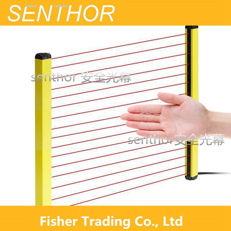 High Quality 16 Beams Safety Light Curtain for Automatic Machines, 300-600mm Protection Height Security Photoelectric Switch enlarge