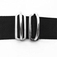 MagiDeal 316 Stainless Steel Universal Scuba Diving Dive Weight Belt Keeper & D Ring for 5cm Weight Belt Surfing Swimming Sport