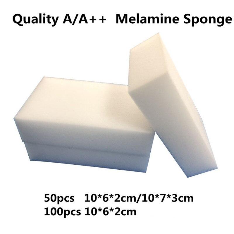Limpieza de melamina esponja 100 piezas Magia Blanca esponjas/borrador Nano esponja para lavar los platos/Olla/Pan limpiador ¡50 piezas/100 piezas opcional