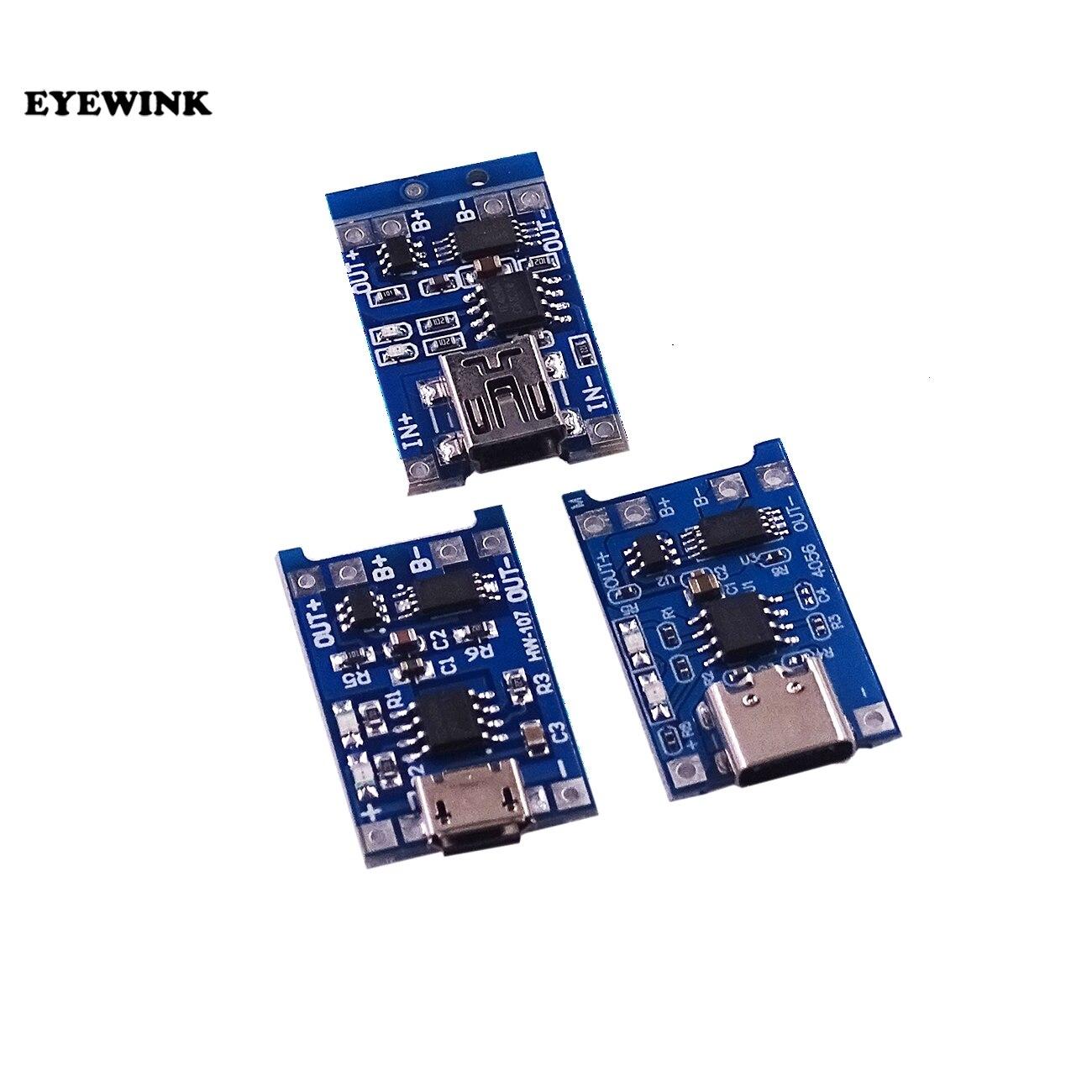 TP4056 TC4056, 1 шт., Type-c/Micro/Mini USB, 5 В, 1 А, 18650, Фотографическая плата для зарядки, две функции, литий-ионный аккумулятор