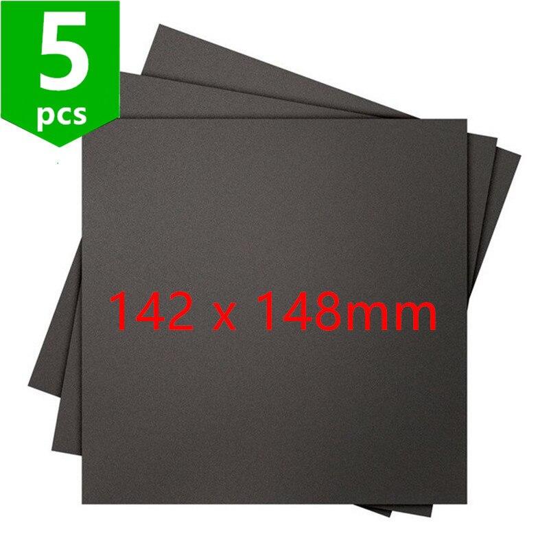 SWMAKER-أوراق سوداء فائقة اللصق للطابعة ثلاثية الأبعاد ، سطح بناء ، 142 × 148 مللي متر ، 5 قطع