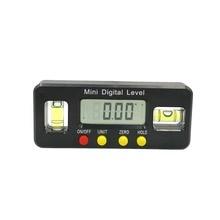 디지털 앵글 파인더 각도기 전자 레벨 상자 360 학위 디지털 경사계 각도 측정 도구 자석 휴대용