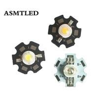 10/50/100 pièces Epistar haute puissance 1 W/3 W puces LED 20mm AL Star PCB Diode lampe blanc chaud/blanc Source de lumière pour bricolage LED spot