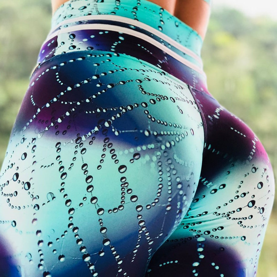 2019 nueva llegada gotas de agua OCéANO AZUL 3d impreso polainas deporte mujeres Fitness mallas arriba Legging Yoga Pantalones Mujer