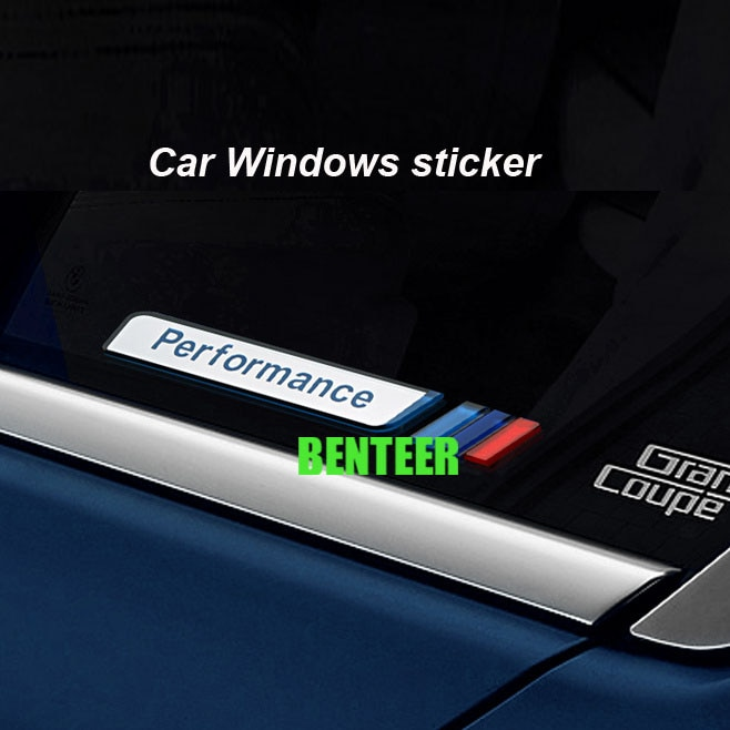2 piezas de acrílico de motorsport ventanas de coche pegatina para bmw E34 E36 E60 E90 E46 BMW E39 estilo de coche