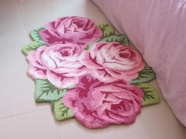 4 rose bedroom carpet married mats bedside mat table mats sofa cushion