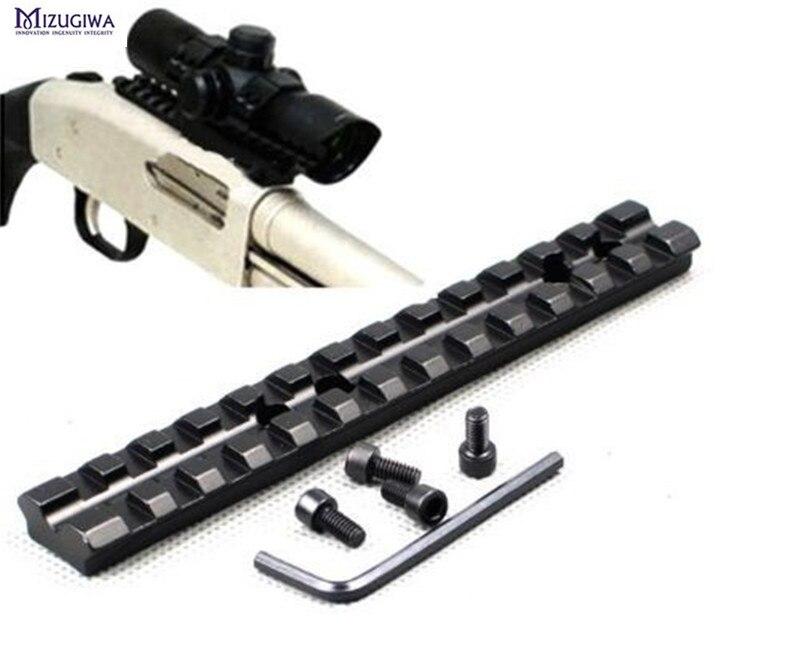 Mizugiwa 5.5'' Picatinny Weaver Rail 20mm Scope Mount 13 Slots fit for Rifle Shotgun 500,590,835 Series Hunting Caza Accessories