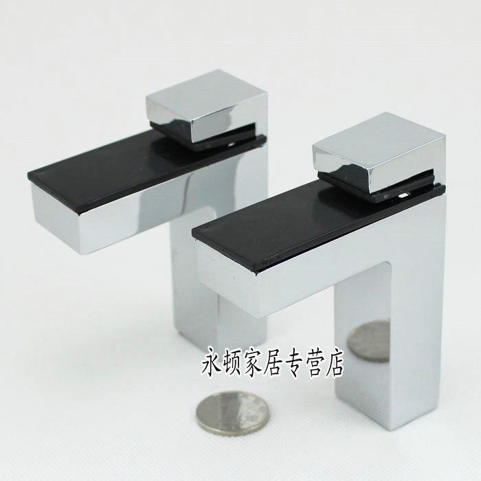2 قطعة/الوحدة كبيرة حجم سبائك الزنك قابل للتعديل الجرف الزجاج أو الخشب الرف قوس ، التسلق اللون CP53