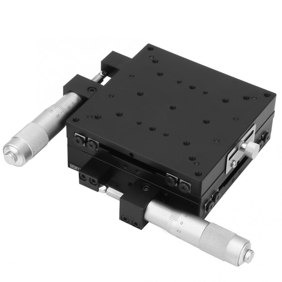 Geleiderail, carril lineal, XY micrómetro, rodillo de afinación Manual, Etapas lineales, 100*100*40mm, carril guía lineal