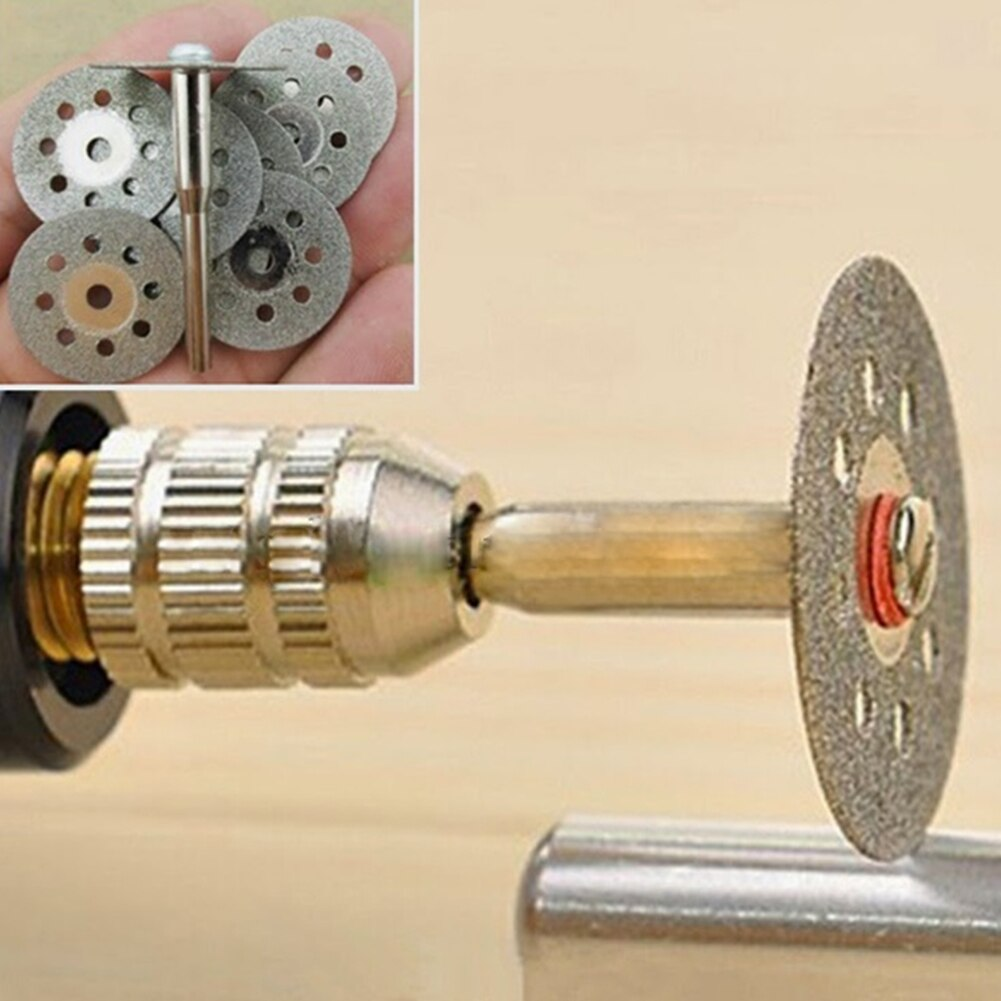 Marke Neue 12 stücke Dreh Werkzeug Kreissäge Klingen Trennscheiben Dorn Dremel Cut off 10 Kreissäge Klingen und 2 dorn